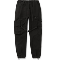 Off-White Tapered Logo-Print Cotton-Canvas Cargo Trousers