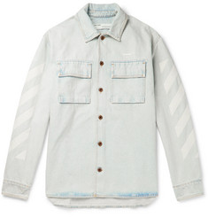 Off-White Oversized Embroidered Denim Shirt