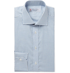 Turnbull & Asser Light-Blue Gingham Cotton Shirt
