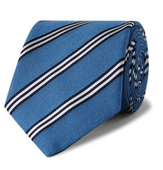 Turnbull & Asser 8cm Striped Silk and Cotton-Blend Jacquard Tie