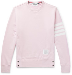 Thom Browne Slim-Fit Striped Loopback Cotton-Jersey Sweatshirt