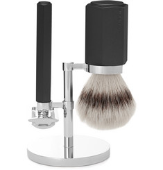Mühle Hexagon Chrome-Plated and Graphite Three-Piece Safety Shaving Set