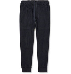 TOM FORD Tapered Cotton-Blend Velvet Sweatpants