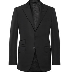 TOM FORD Black O'Connor Slim-Fit Cotton and Silk-Blend Suit Jacket