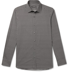 TOM FORD Printed Cotton and Lyocell-Blend Shirt