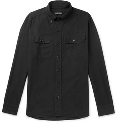 TOM FORD Slim-Fit Brushed Cotton-Flannel Shirt