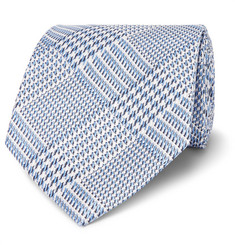 TOM FORD 8cm Prince of Wales Checked Silk-Jacquard Tie