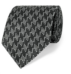TOM FORD 8cm Silk and Linen-Blend Tie