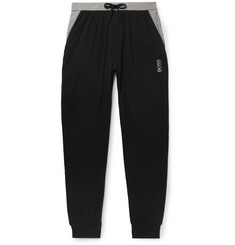 Hugo Boss Tapered Colour-Block Stretch Cotton and Modal-Blend Sweatpants
