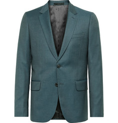 Paul Smith Teal Soho Slim-Fit Sharkskin Wool Suit Jacket