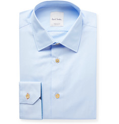 Paul Smith White Slim-Fit Cotton-Poplin Shirt