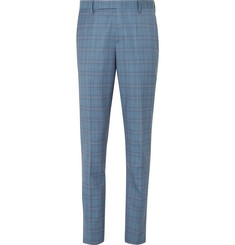 Paul Smith Blue Soho Slim-Fit Prince of Wales Checked Wool Suit Trousers