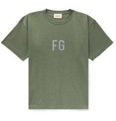 Fear of God Oversized Logo-Print Cotton-Jersey T-Shirt