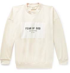 Fear of God Oversized Logo-Appliquéd Loopback Cotton-Jersey Sweatshirt