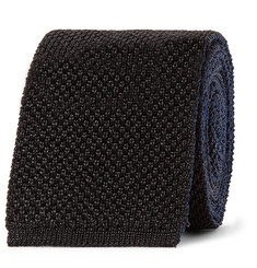 Mr P. - 6cm Knitted Silk and Cotton-Blend Tie