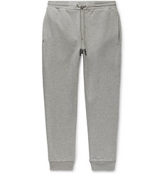 McQ Alexander McQueen Tapered Mélange Fleece-Back Cotton-Jersey Sweatpants