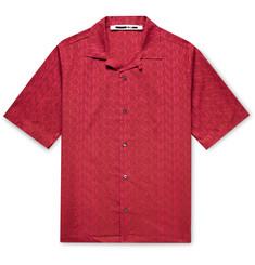 McQ Alexander McQueen Camp-Collar Logo-Print Cotton Shirt