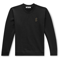 McQ Alexander McQueen Logo-Embroidered Loopback Cotton-Jersey Sweatshirt
