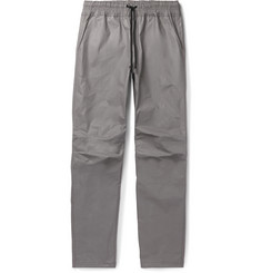 John Elliott Tomba Slim-Fit Waxed-Cotton Drawstring Trousers