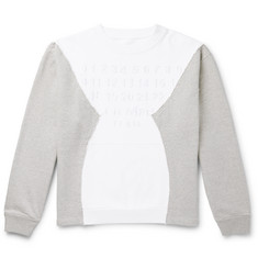 Maison Margiela Oversized Logo-Embroidered Patchwork Loopback Cotton-Jersey Sweatshirt