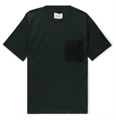 Albam Shell-Panelled Cotton-Jersey T-Shirt