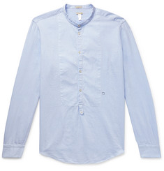 Massimo Alba Grandad-Collar Textured-Cotton Half-Placket Shirt