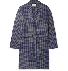 Oliver Spencer Loungewear Cannington Gingham Cotton Robe