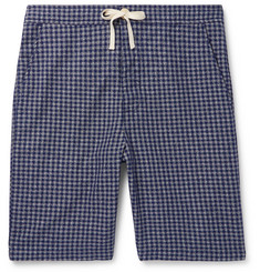 Oliver Spencer Loungewear Cannington Gingham Cotton Drawstring Pyjama Shorts