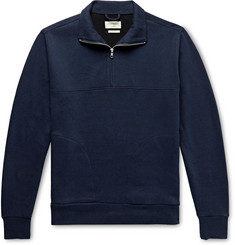 Oliver Spencer Loungewear Milner Recycled Cotton-Blend Half-Zip Sweatshirt
