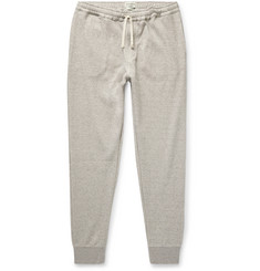 Oliver Spencer Loungewear Milner Slim-Fit Tapered Mélange Ribbed Cotton Sweatpants