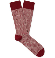 Oliver Spencer Loungewear Miller Crochet-Knit Stretch Cotton-Blend Socks