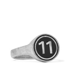 Maison Margiela Sterling Silver and Enamel Ring