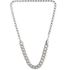 Maison Margiela Silver-Tone Chain Necklace