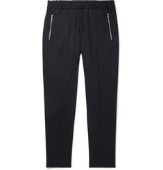 PS Paul Smith Navy Slim-Fit Tapered Wool-Blend Drawstring Trousers