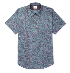 PS Paul Smith Slim-Fit Printed Cotton-Poplin Shirt