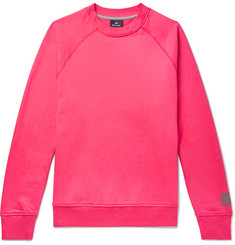 PS Paul Smith Fleece-Back Organic Cotton-Jersey Sweatshirt