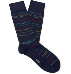 Paul Smith Cotton-Blend Jacquard Socks