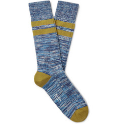 Paul Smith Neil Striped Space-Dyed Cotton-Blend Socks