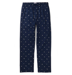 Derek Rose Nelson 73 Printed Cotton-Poplin Pyjama Trousers