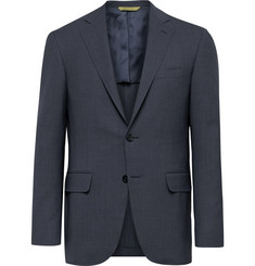 Canali Slate-Blue Slim-Fit Kei Wool Suit Jacket