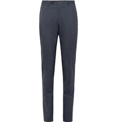 Canali Slate-Blue Kei Slim-Fit Wool Suit Trousers