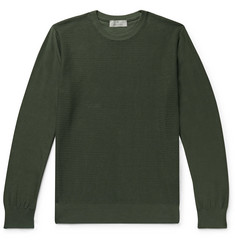 Canali Textured-Cotton Sweater