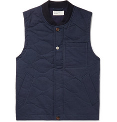 Universal Works Carlton Quilted Padded Cotton-Blend Gilet