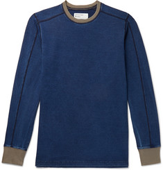 Universal Works Contrast-Tipped Indigo-Dyed Jersey Sweatshirt