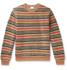 Burberry Striped Fleece Sweatshirt