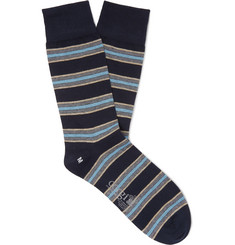 Corgi Regimental Striped Cotton-Blend Socks