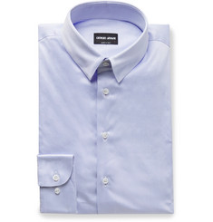 Giorgio Armani Light-Blue Cotton Shirt