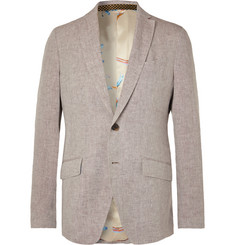 Etro Beige Slim-Fit Linen Suit Jacket