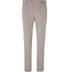 Etro Beige Slim-Fit Linen Suit Trousers