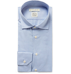Etro Light-Blue Puppytooth Woven Shirt